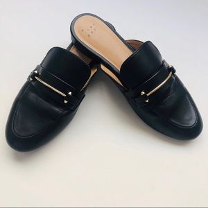 A New Day Black Slip On Mules | 9